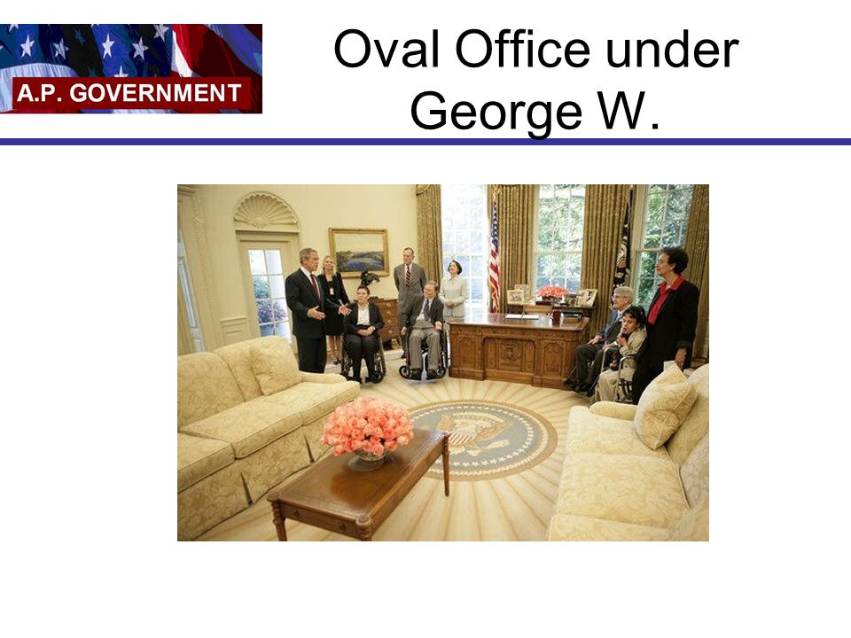 Oval Office under George W.