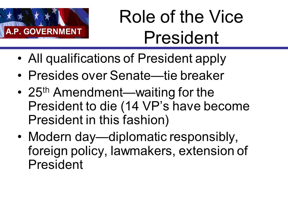 Role of the Vice President