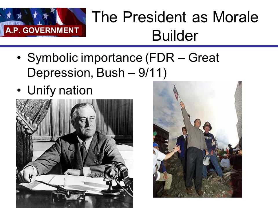 The President as Morale Builder