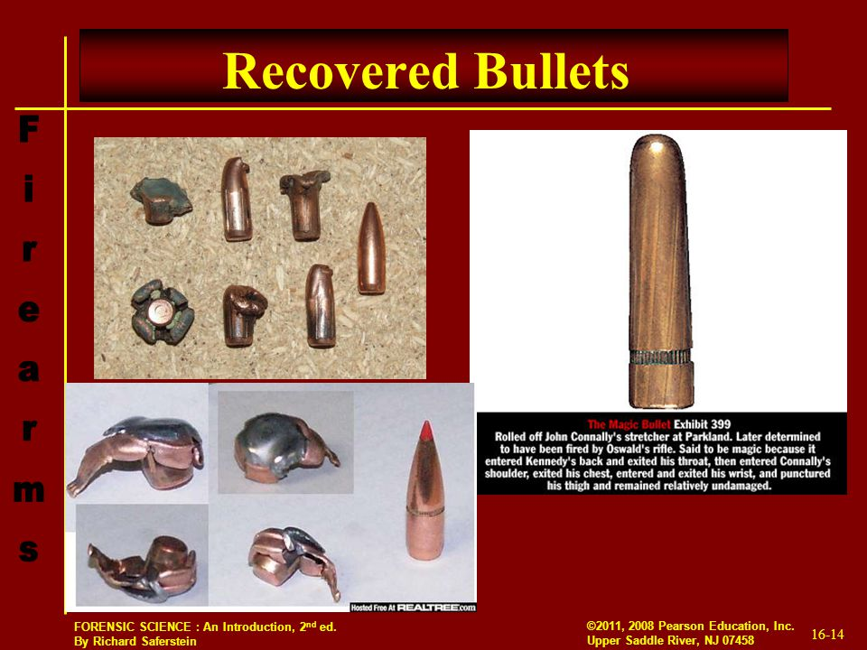Recovered Bullets