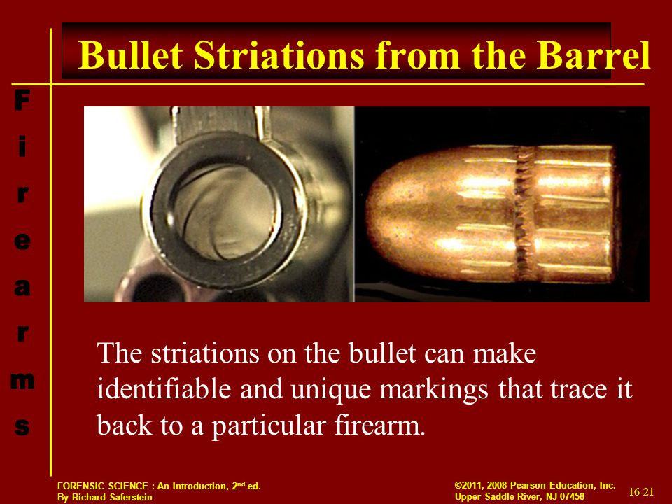 Bullet Striations from the Barrel