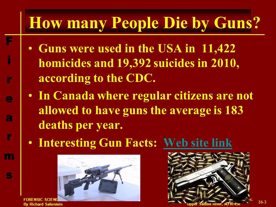 How many People Die by Guns