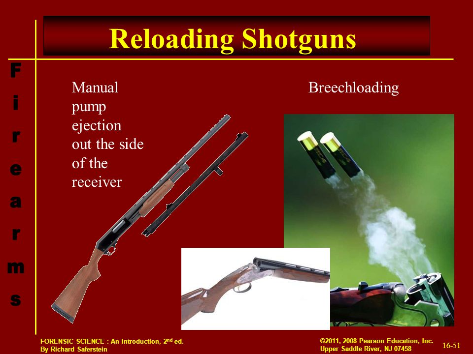 Reloading Shotguns Manual pump ejection out the side of the receiver