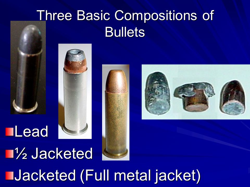 Three Basic Compositions of Bullets