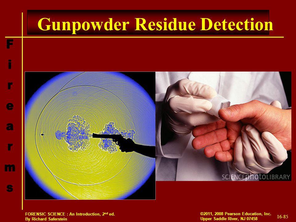 Gunpowder Residue Detection
