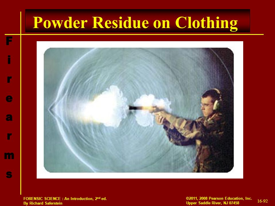 Powder Residue on Clothing