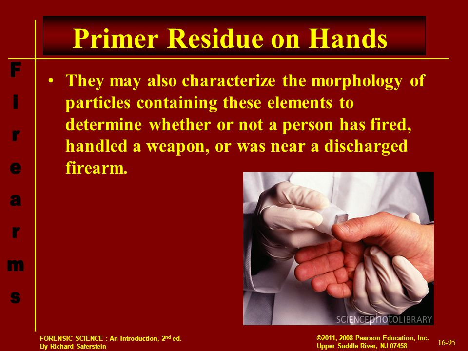 Primer Residue on Hands