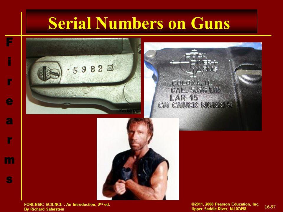 Serial Numbers on Guns
