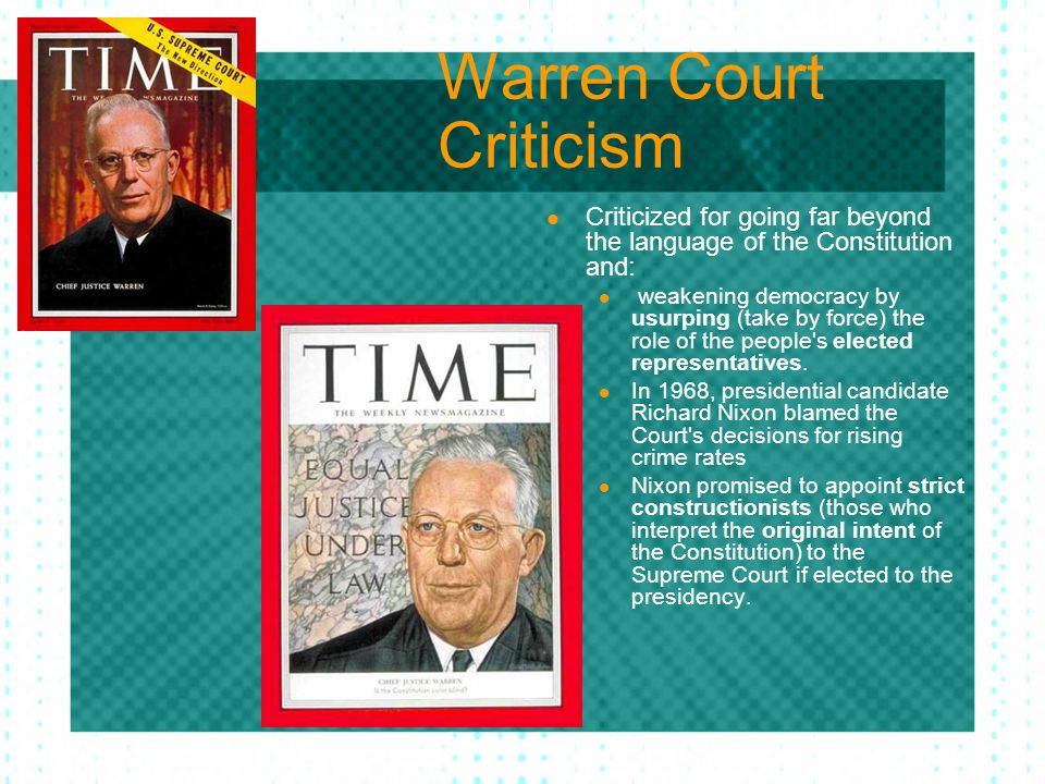Warren Court Criticism