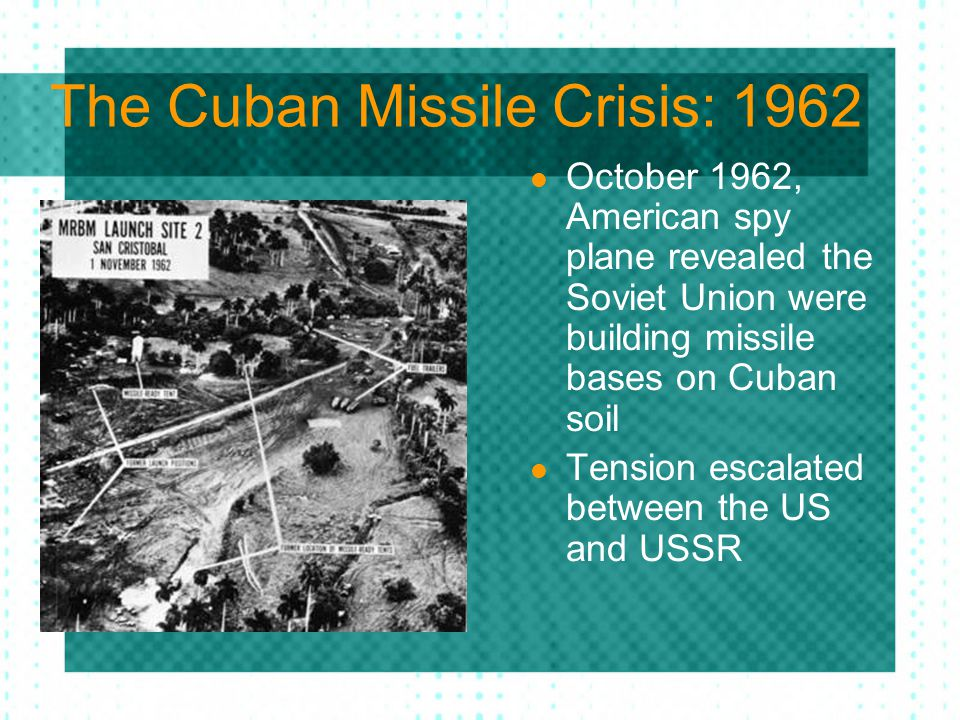 The Cuban Missile Crisis: 1962
