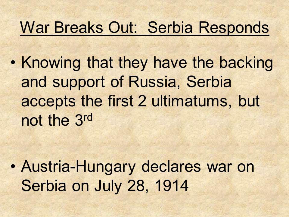 War Breaks Out: Serbia Responds