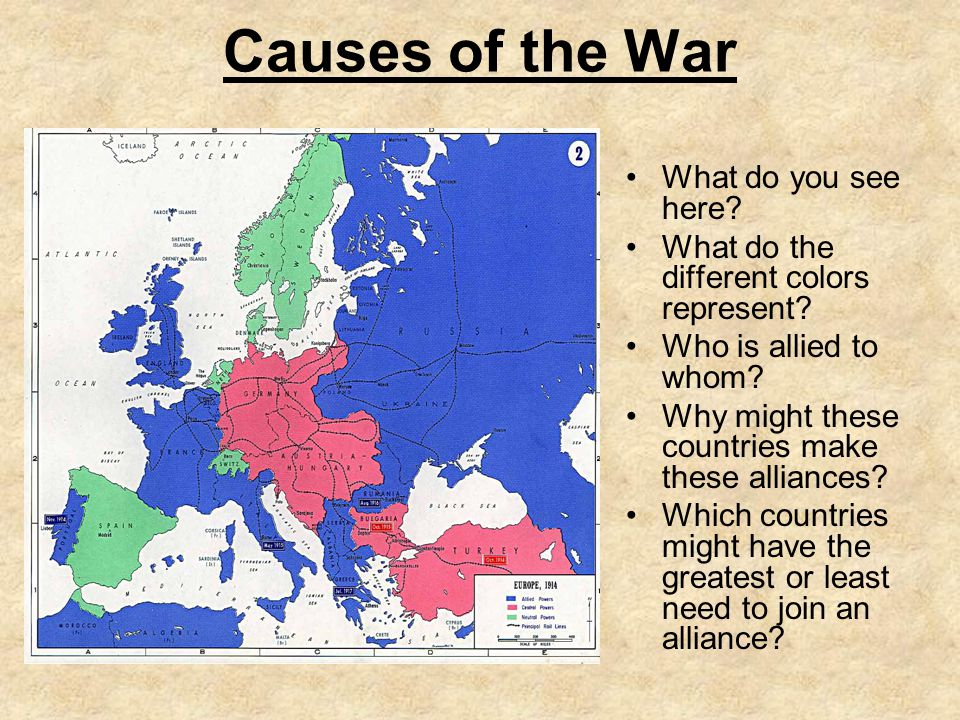 Causes of the War What do you see here