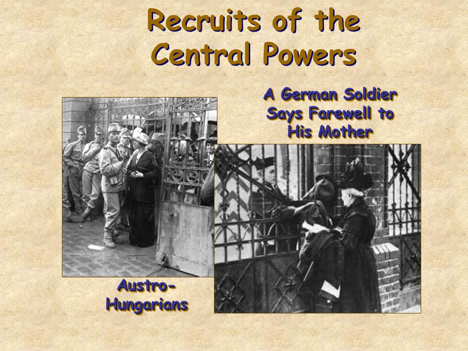 Recruits of the Central Powers