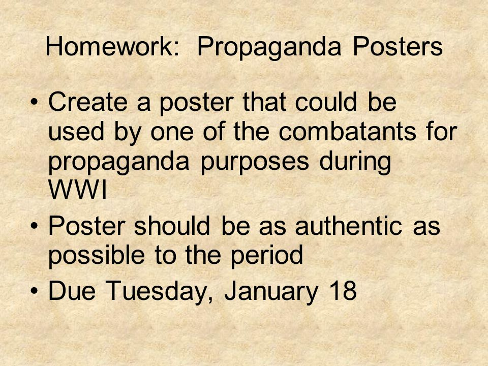 Homework: Propaganda Posters