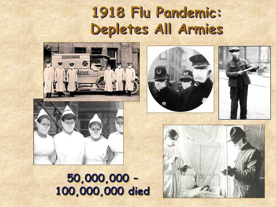 1918 Flu Pandemic: Depletes All Armies