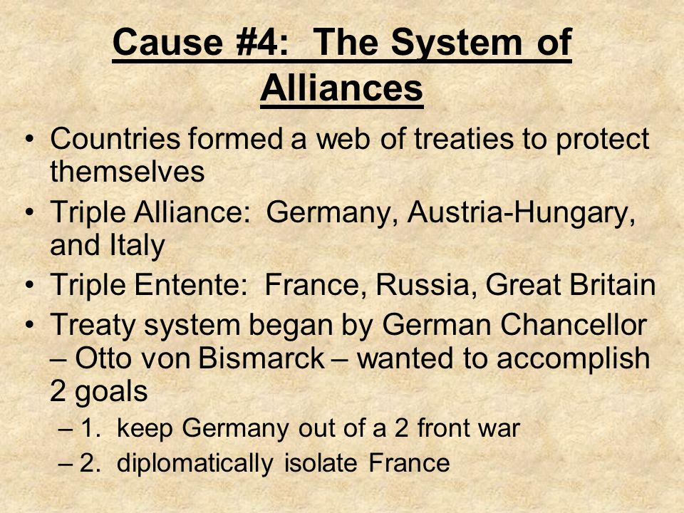 Cause #4: The System of Alliances