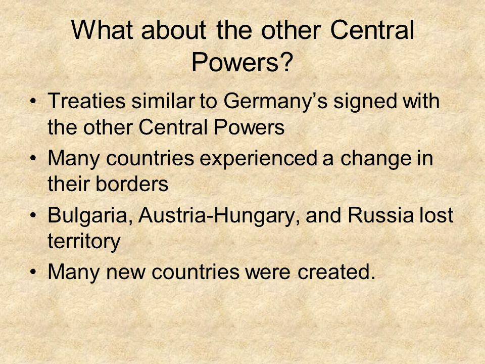 What about the other Central Powers