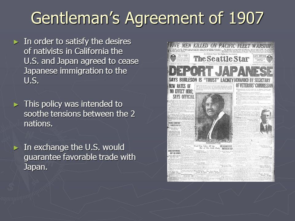 Gentleman's Agreement of 1907