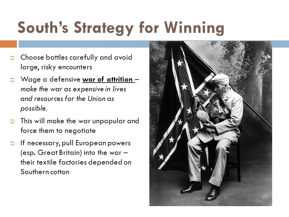 South's Strategy for Winning