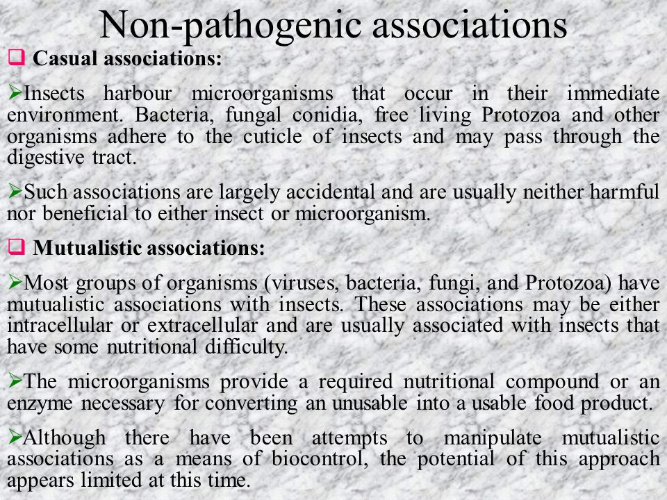 Non-pathogenic associations