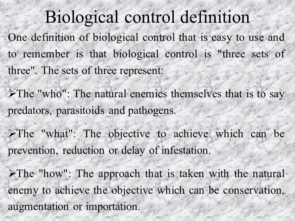 Biological control definition