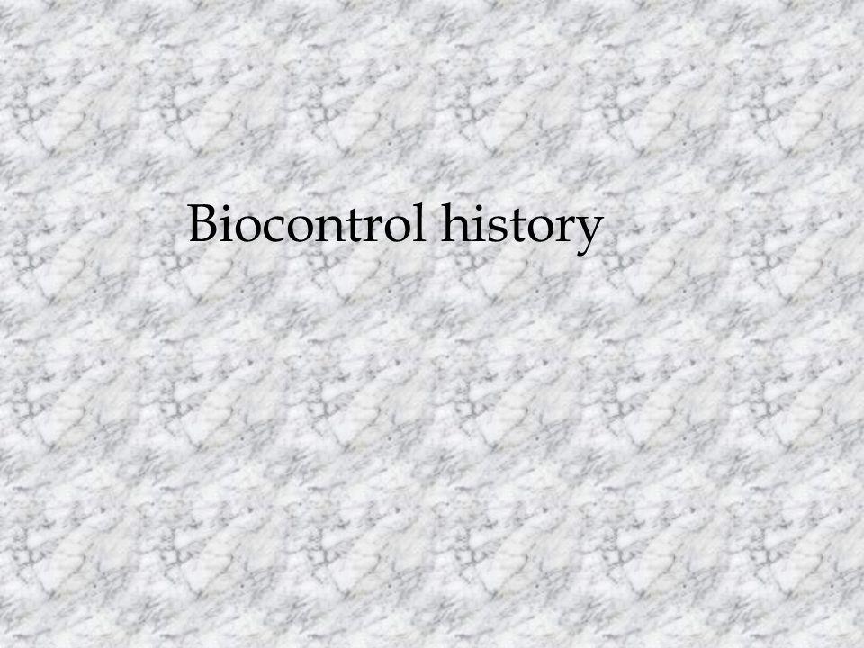 Biocontrol history