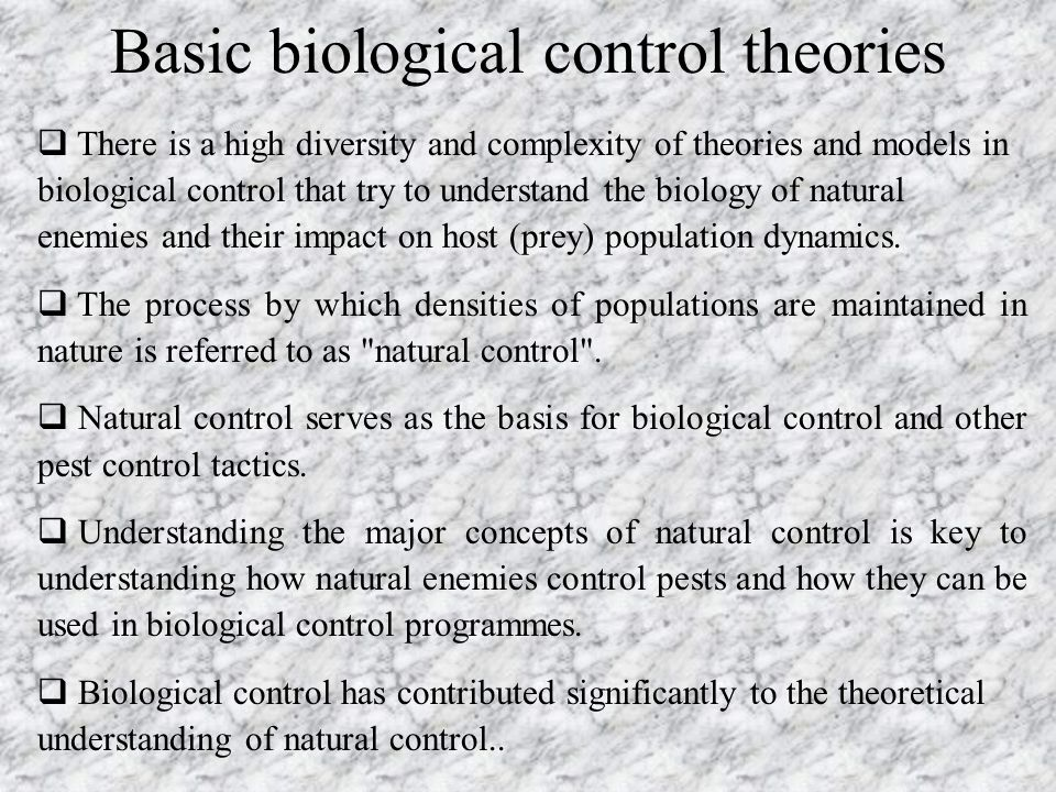 Basic biological control theories