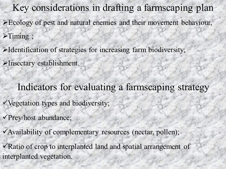 Key considerations in drafting a farmscaping plan
