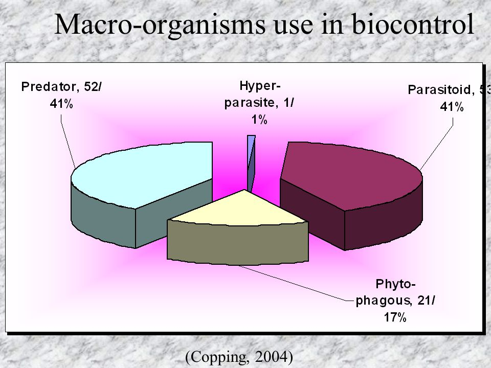 Macro-organisms use in biocontrol