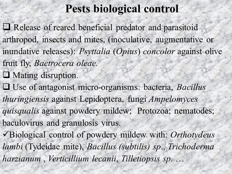 Pests biological control