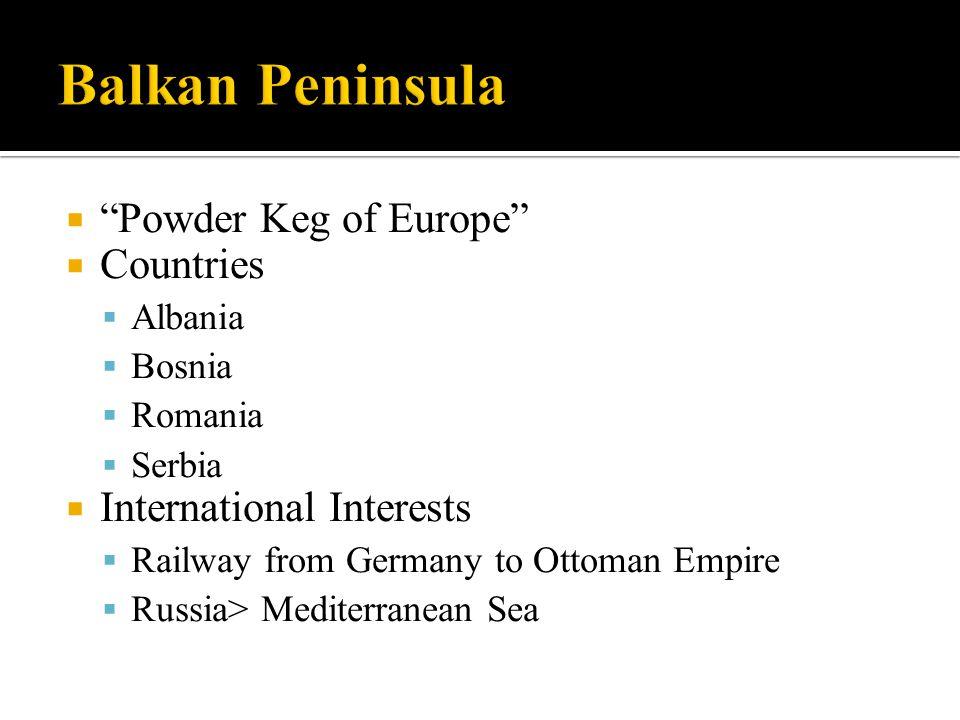 Balkan Peninsula Powder Keg of Europe Countries