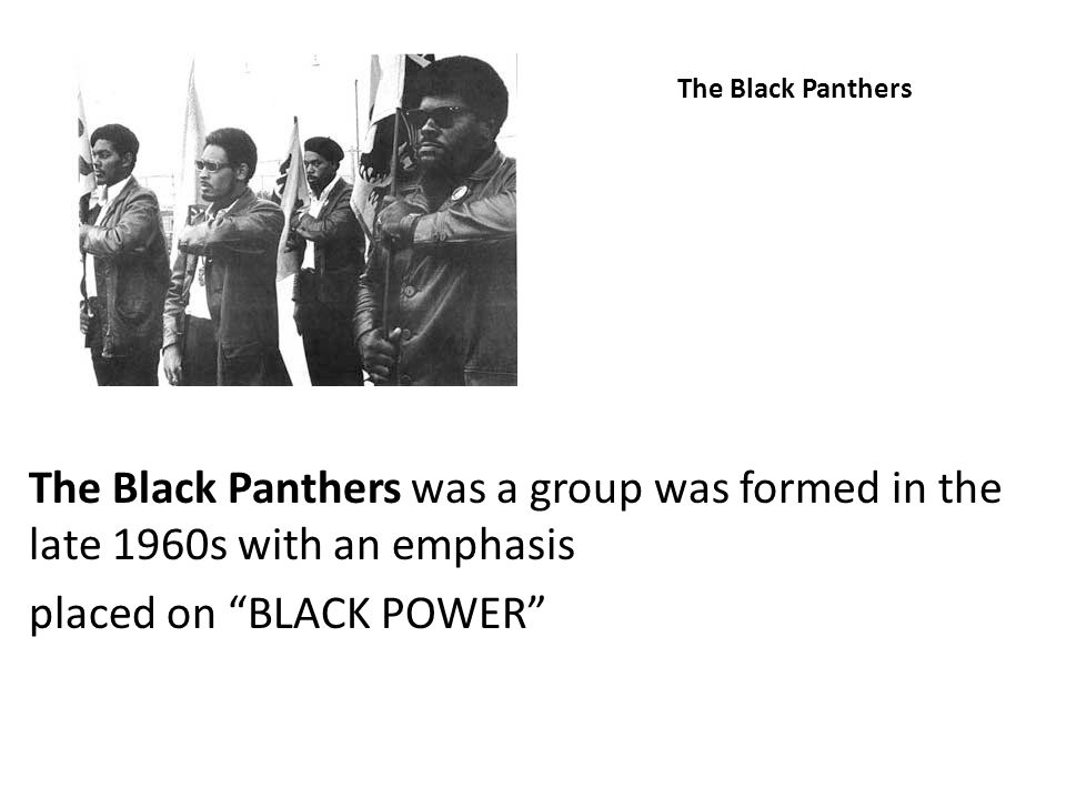 placed on BLACK POWER