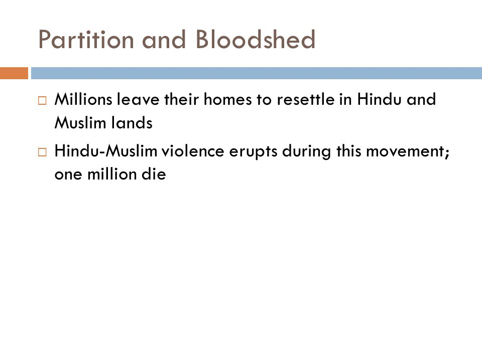 Partition and Bloodshed
