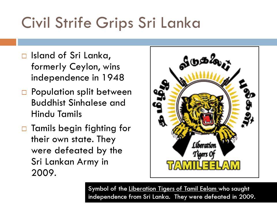 Civil Strife Grips Sri Lanka