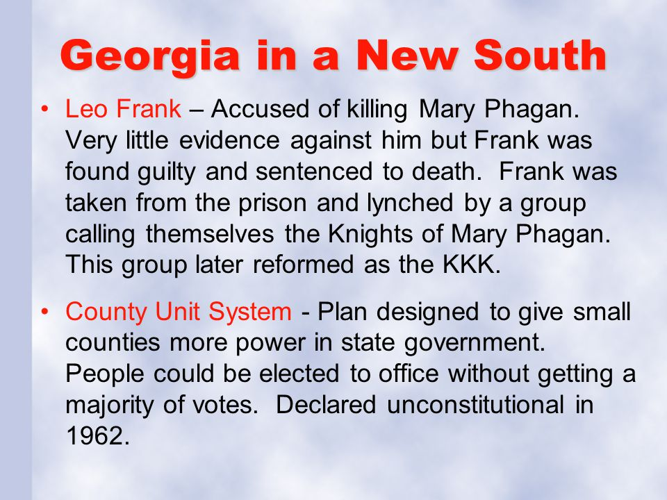 Georgia in a New South