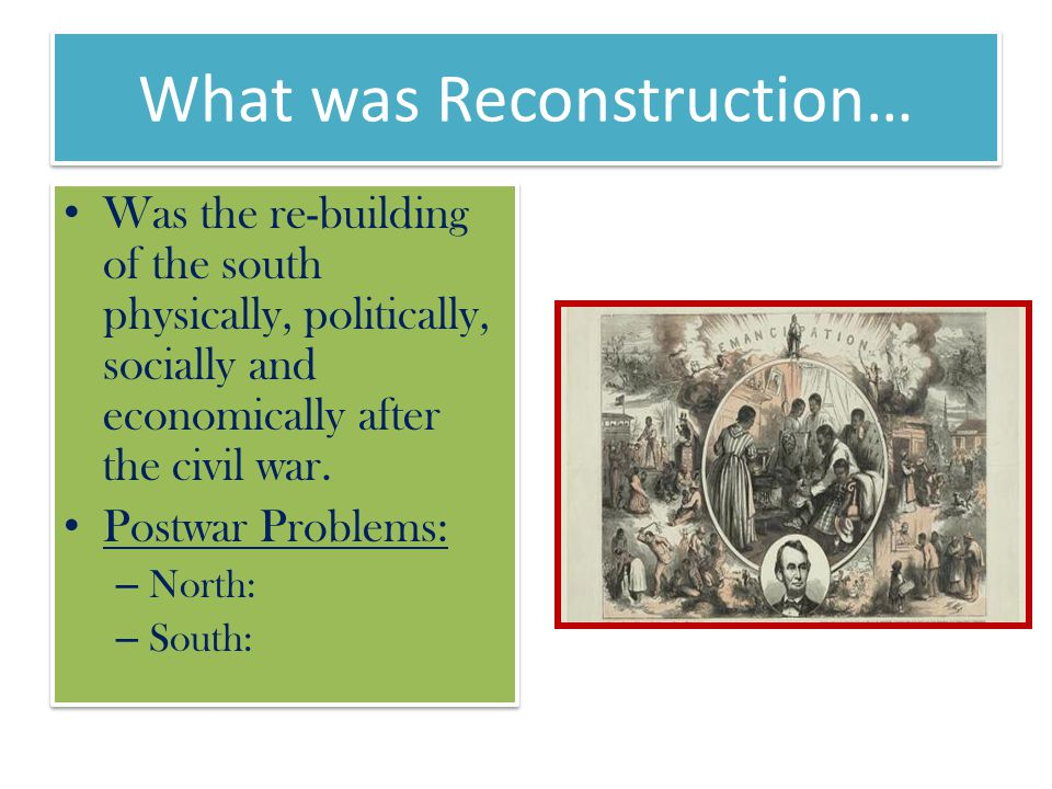 What was Reconstruction…