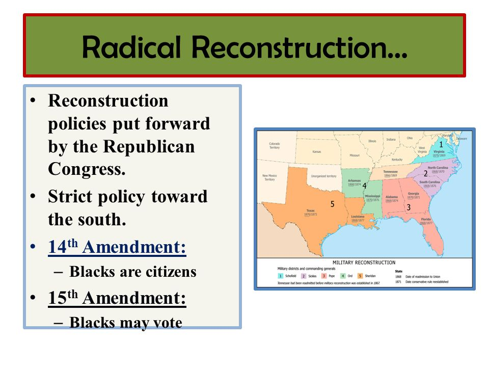 Radical Reconstruction…