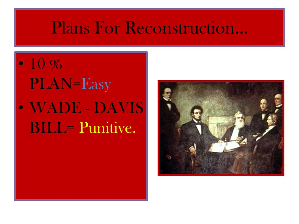 Plans For Reconstruction…