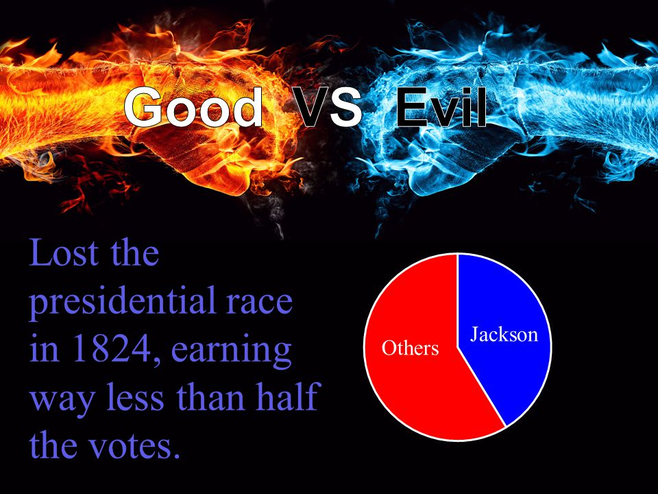 Lost the presidential race in 1824, earning way less than half the votes.