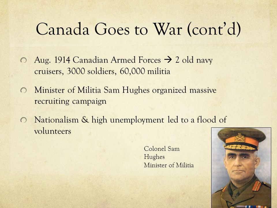 Canada Goes to War (cont'd)
