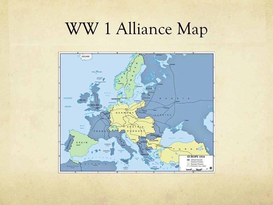 WW 1 Alliance Map