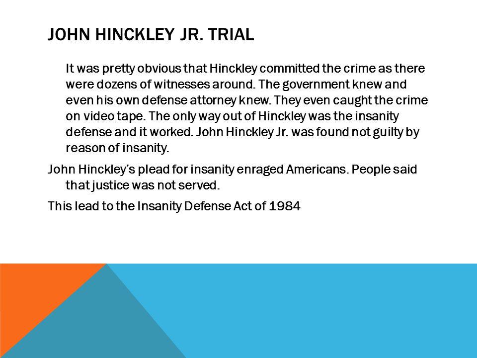 John Hinckley Jr. trial