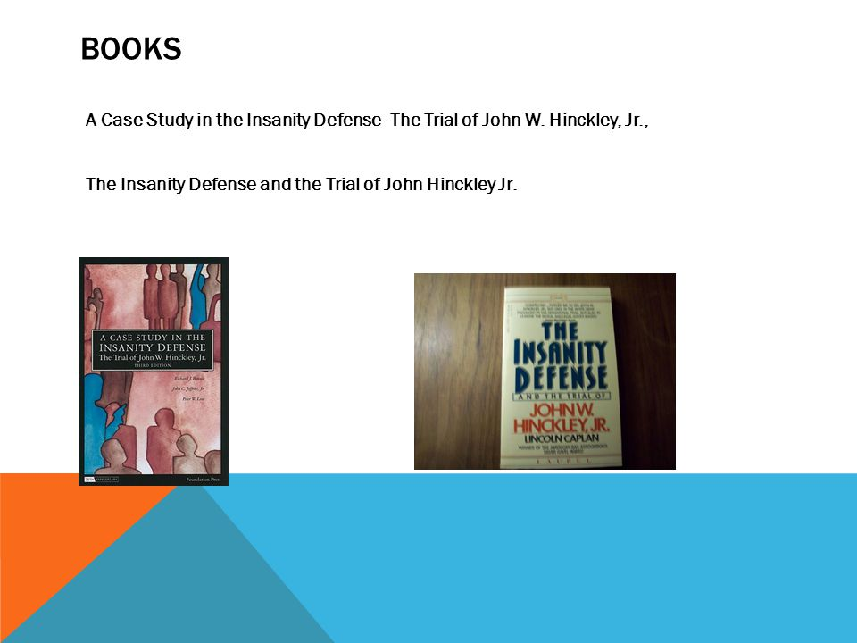 Books A Case Study in the Insanity Defense- The Trial of John W.