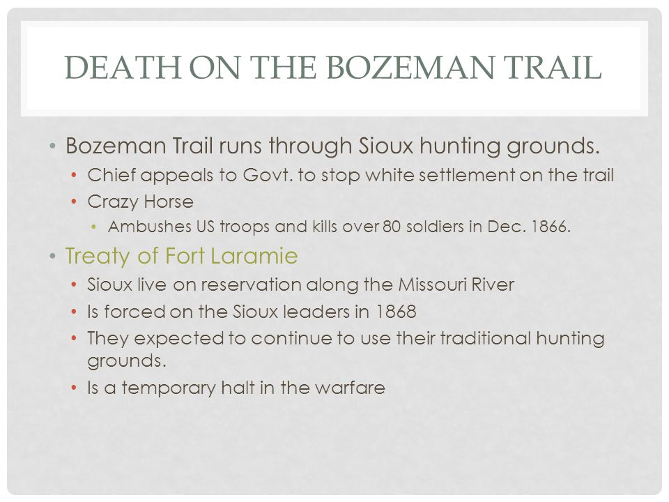 Death on the Bozeman Trail