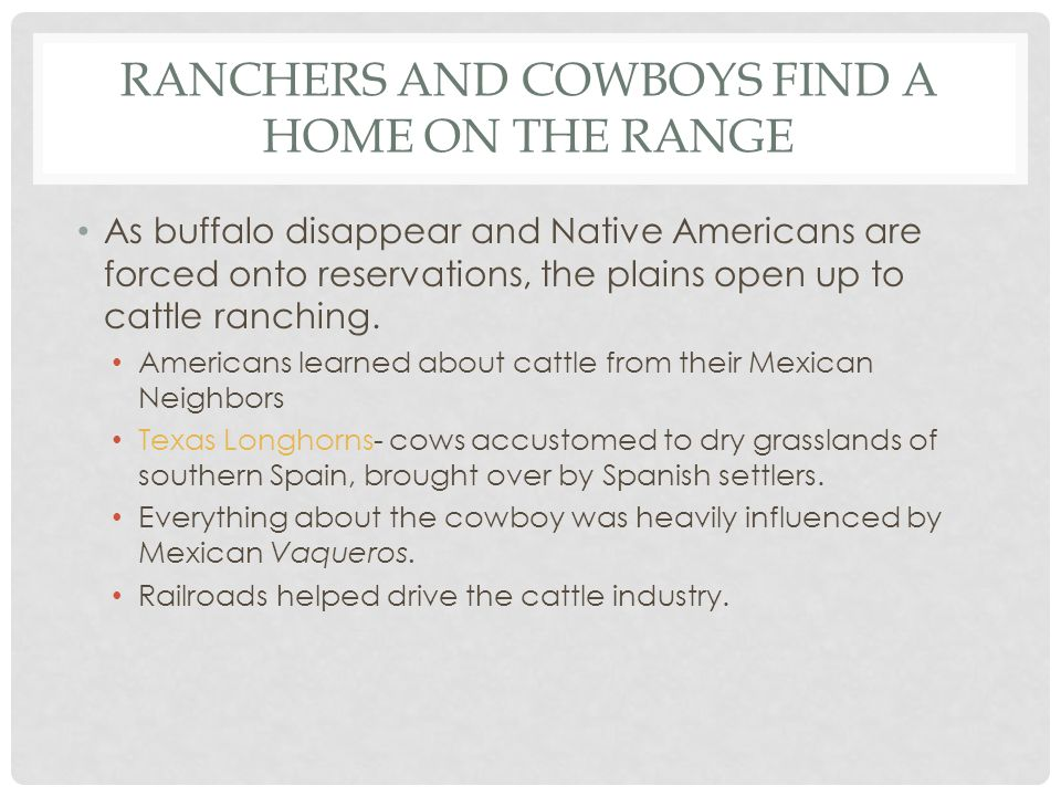 Ranchers and Cowboys find a home on the range
