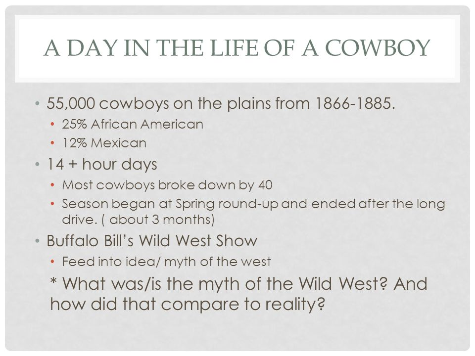 A day in the life of a Cowboy