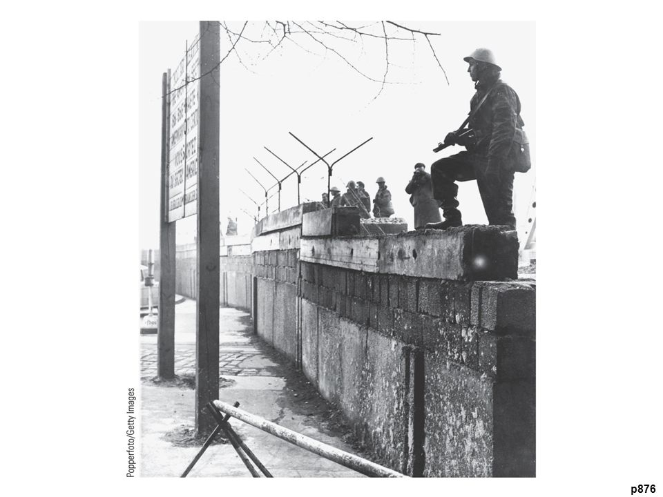 The B erlin Wall, 1961–1989 The wall separating East and