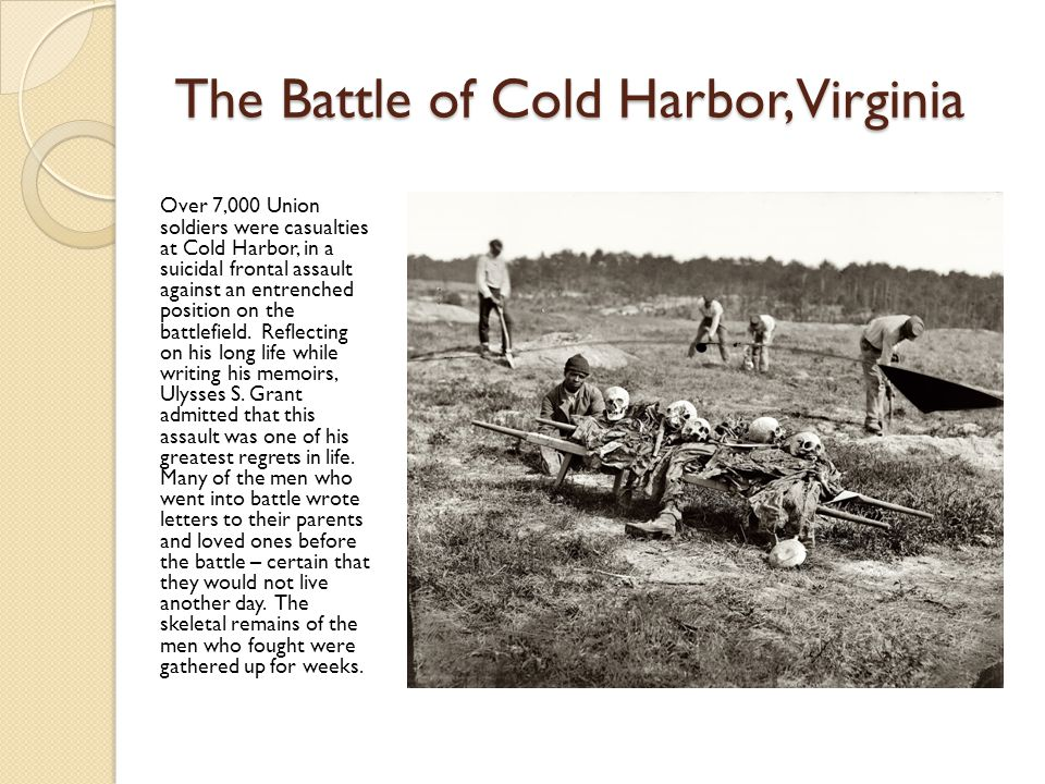 The Battle of Cold Harbor, Virginia