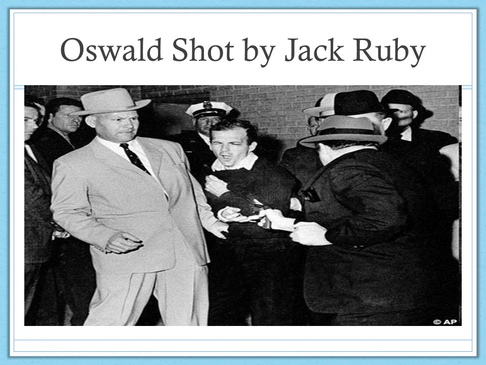 Oswald Shot by Jack Ruby