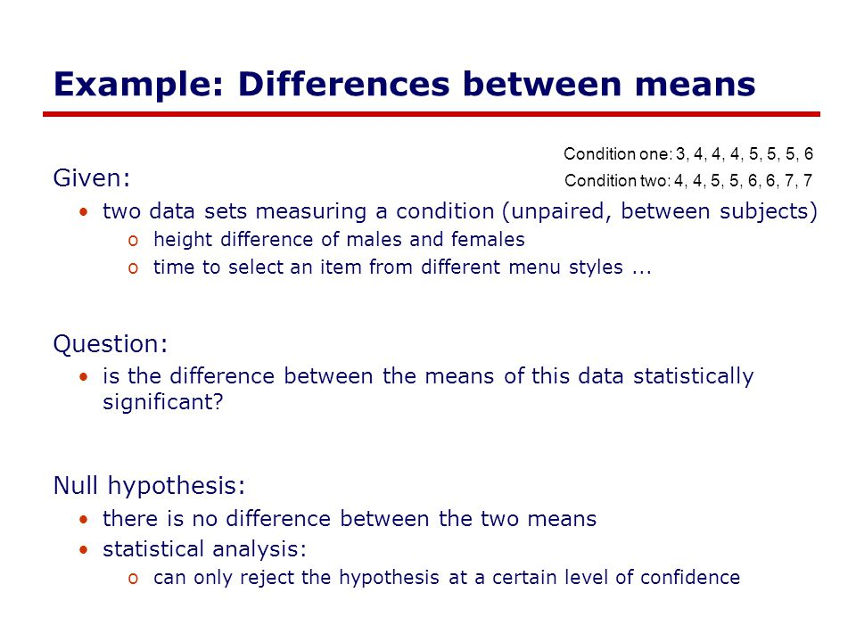 Example: Differences between means